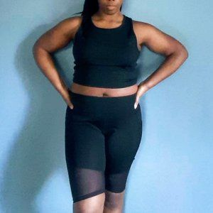 High Rise Biker Short and Cropped Tank Set